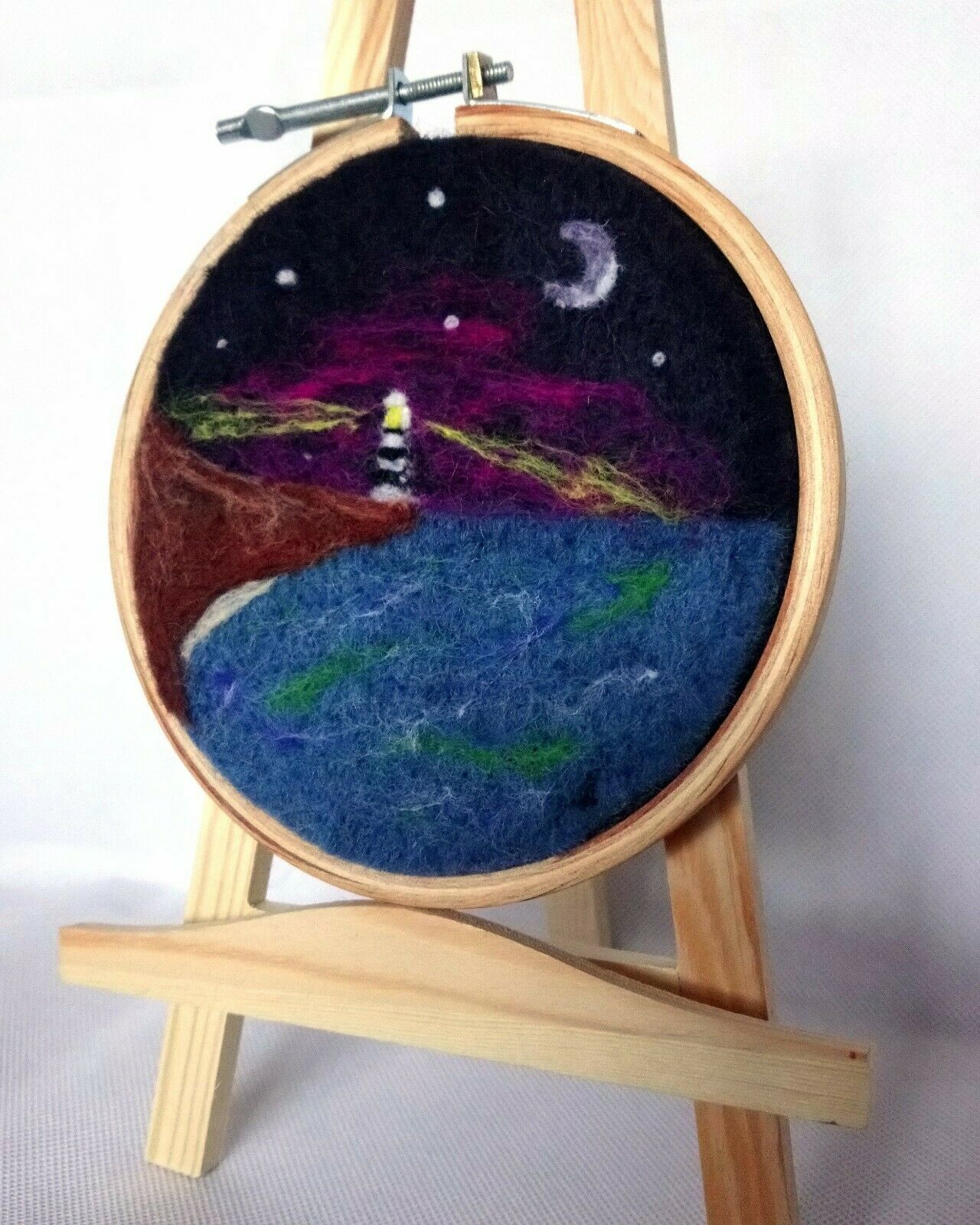 ' On the Horizon '  Needle Felted landscape art