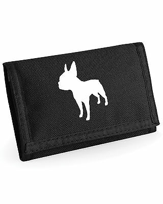 Wallet with Small Terrier Silhouette Design-Yorkie Sealyham Cairn Boston (Cairn Terrier Silhouette)