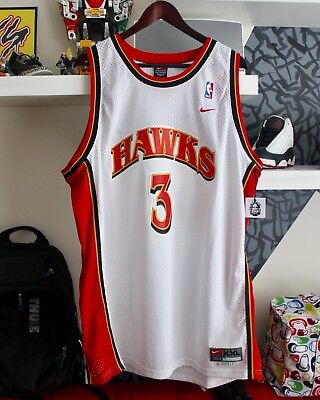 Vintage Nike Atlanta Hawks Shareef Abdur-Rahim Classic ATL NBA Fashion Men's XXL