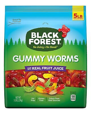 Black Forest Gummy Worms Candy, 5 Pound (Pack of 1) Black Forest Gummy Worms