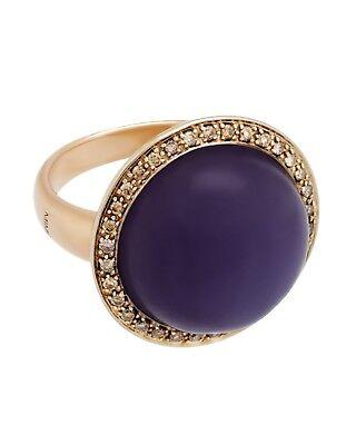 Mimi Milano Ring in Rose und Weiß 18k Gold, Lavendel Jade und Diamanten (Rose Gold Und Weißgold Ringe)