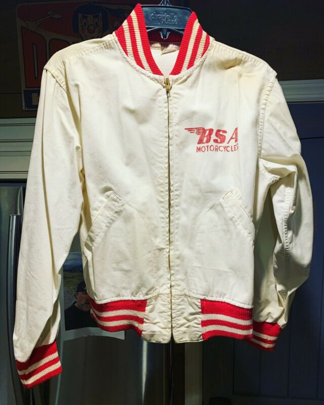Vintage Bsa Motorcycle Canvas Jacket