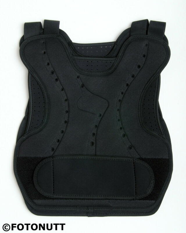 CHEST PROTECTOR Vest for Paintball, Airsoft Body Armor black. Paintball