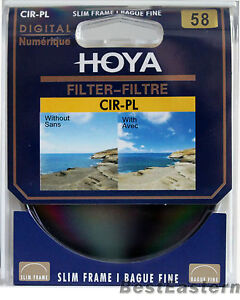 Genuine Hoya 58mm Slim CPL Circular Polarizing / Polarizer CIR-PL Digital Filter