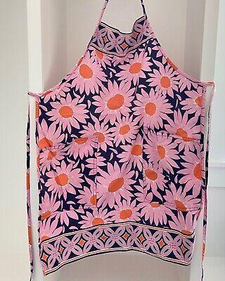 VERA BRADLEY Apron Loves Me Daisy Flower Pockets Pink Orange