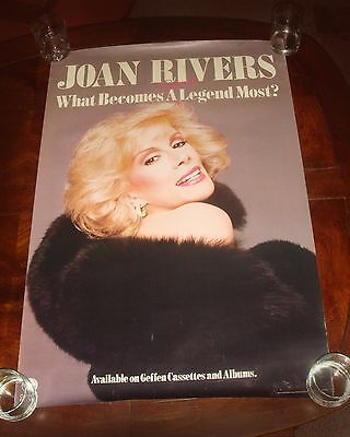 "Rare JOAN RIVERS ""What Becomes A Legend Most?"" 1983 GEFFEN RECORDS PROMO POSTER"