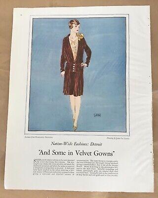 John La Gatta pictorial 1927 vintage print 20s art fashion illustration flapper