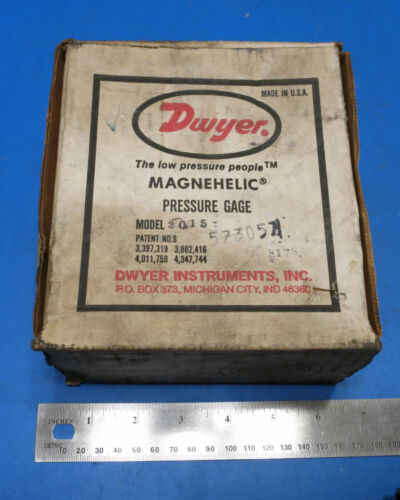 Dwyer MAGNEHELIC Pressure Gage Model 2015, 15in WC - MISSING HOSE BARBS
