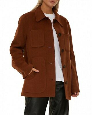 Acne Studios Cozy Brown Wool Car Coat 38 FN-WN-OUTW000159 Okera Double Faced