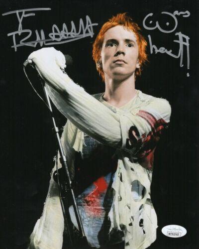 Johnny Rotten Autograph Signed 8x10 Photo - Sex Pistols Vocalist (JSA COA)