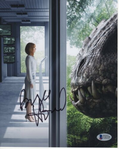 BRYCE DALLAS HOWARD SIGNED JURASSIC WORLD 8X10 PHOTO AUTOGRAPH HOT PSA COA BAS!