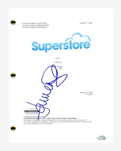 Lauren Ash Signed Autographed Superstore Pilot Episode Script ACOA COA