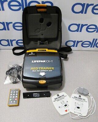 Medtronic Lifepak Cr-t Aed Trainer Defibrillator Training System Wpads Remote