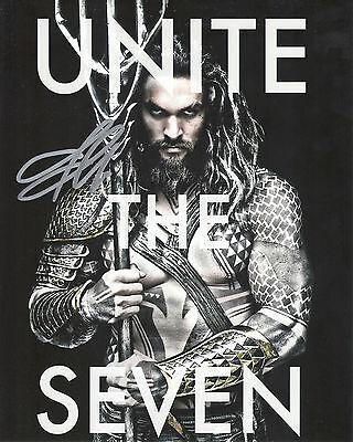 Jason Momoa Justice League Aquaman Signed 8X10 Picture  Coa 1