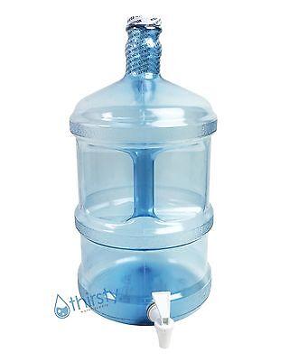 3 Gallon Water Bottle Polycarbonate Plastic Faucet Spigot Dispenser Jug Canteen