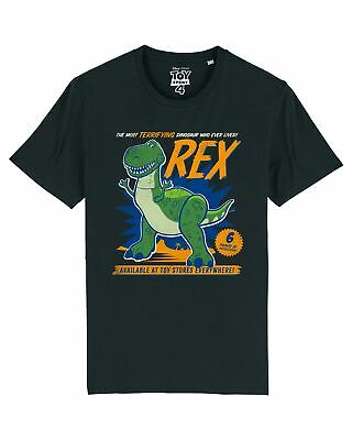 Disney Toy Story 4 The Most Terrifying Rex Men's Black T-Shirt