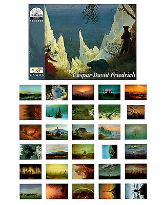 NEU: Postkartenbuch Caspar David Friedrich,  30 Kunstpostkarten / B-Ware