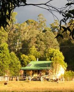 Solar powered cottage on organic farm