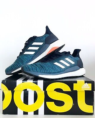 adidas Mens Solar Glide Legend Running Shoes Trainers Blue 9.5 Perfect Condition