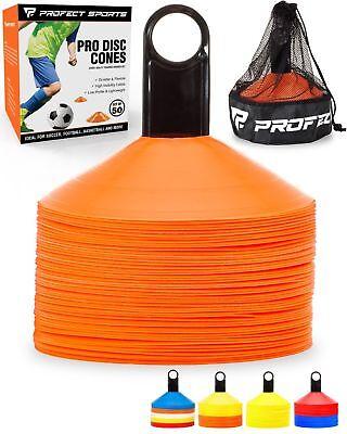 50 Orange Disc Cone Soccer Football Field Training Equipment Team Sport ()