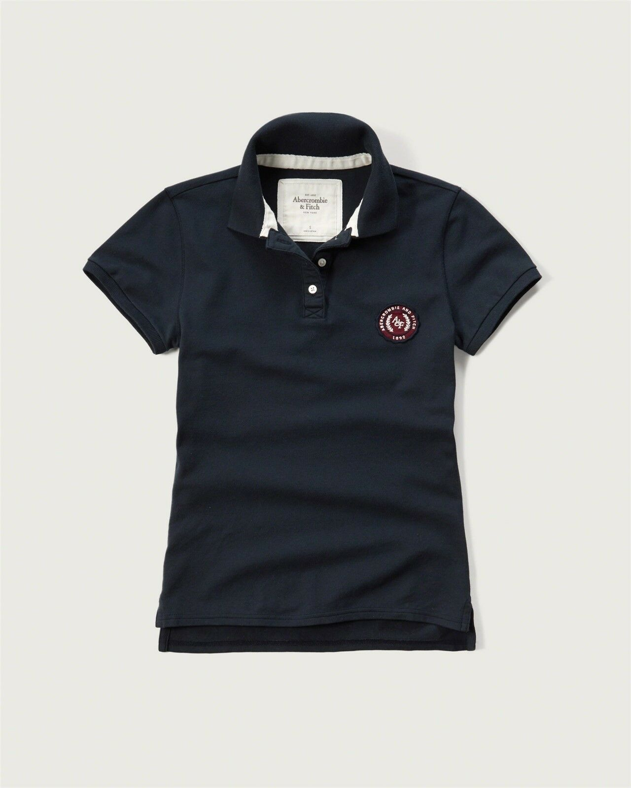 c0adc336fa0 NEW Abercrombie   Fitch Logo Classic Polo Shirt S Small Navy