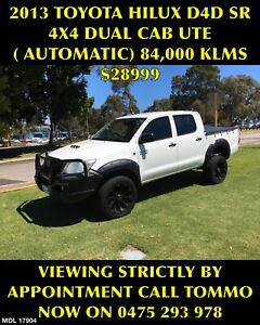 2013 TOYOTA HILUX D4D 3.0LTR DSL/TURBO 4x4 D/CAB AUTO ONLY 84,000KLMS Bayswater Bayswater Area Preview