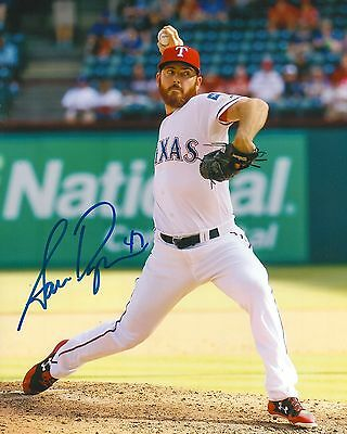 SAM DYSON signed 8x10 photo TEXAS RANGERS WITH COA C
