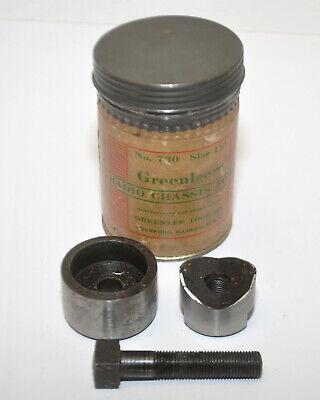 Vintage Greenlee No. 730 1-18 Round Radio Chassis Punch