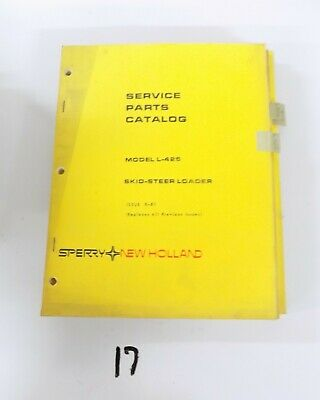 New Holland L425 Skid Steer Loader Parts Catalog 881 5042514