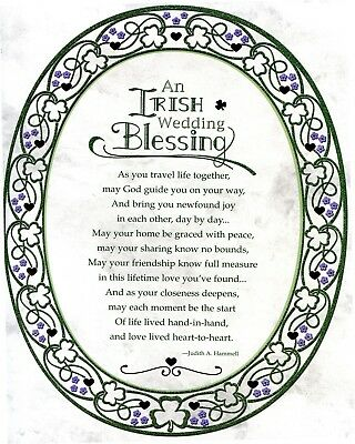 Catholic print picture -  IRISH WEDDING BLESSING -  8