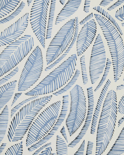 New roll - SERENA & LILY Fallbrook Wallpaper - Blue - Palm botanical watercolor