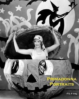 Lab Photo 1920's Silent JACK O LANTERN Halloween Portrait (Esther Halloween)