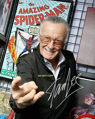 STAN LEE 8X10 AUTHENTIC IN PERSON SIGNED AUTOGRAPH REPRINT PHOTO RP