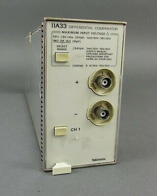 Tektronix 11a33 Differential Comparator Plug-in - Dc To 150mhz