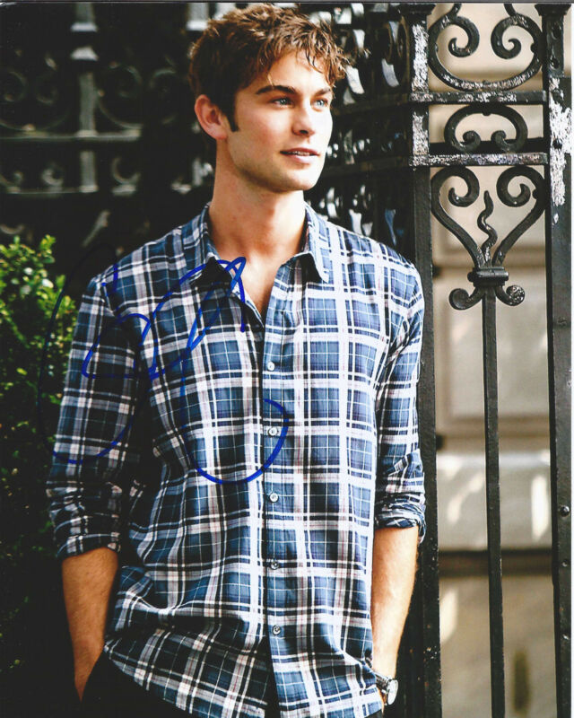 "CHACE CRAWFORD HAND SIGNED AUTHENTIC GOSSIP GIRL ""NATE"" 8X10 PHOTO G w/COA ACTOR"