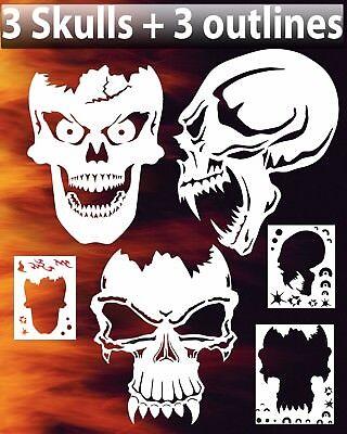 セカイモン 2 airbrush stencils skulls ステンシル テンプレート