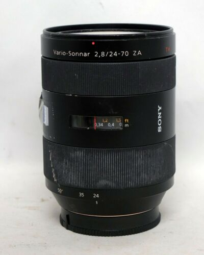 Sony Vario Sonnar 24-70mm 1:2.8 ZA Zeiss A Mount AS IS Parts Repair DSLR digital