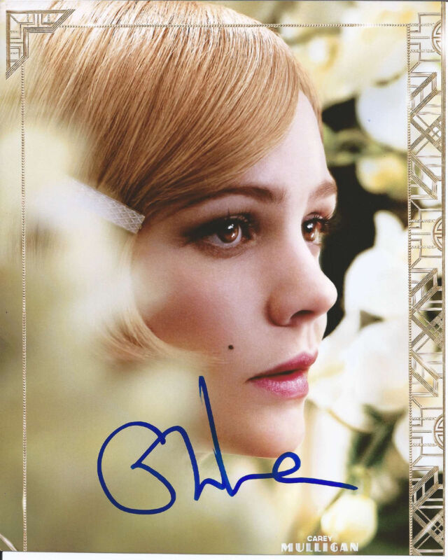 CAREY MULLIGAN HAND SIGNED AUTHENTIC 'THE GREAT GATSBY' 8X10 PHOTO B w/COA HOT