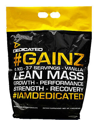 Lean Gainer (Dedicated # Gainz Lean Mass Gainer 4kg Weight Mass Gainer Kohlenhydrate Masse )