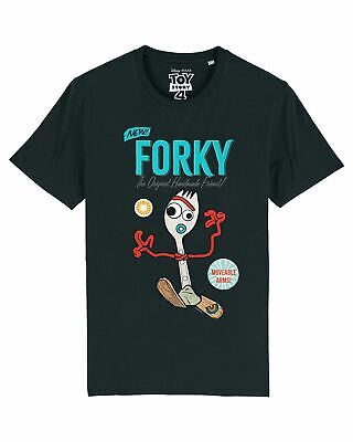 Disney Toy Story 4 Forky Men's Black T-Shirt