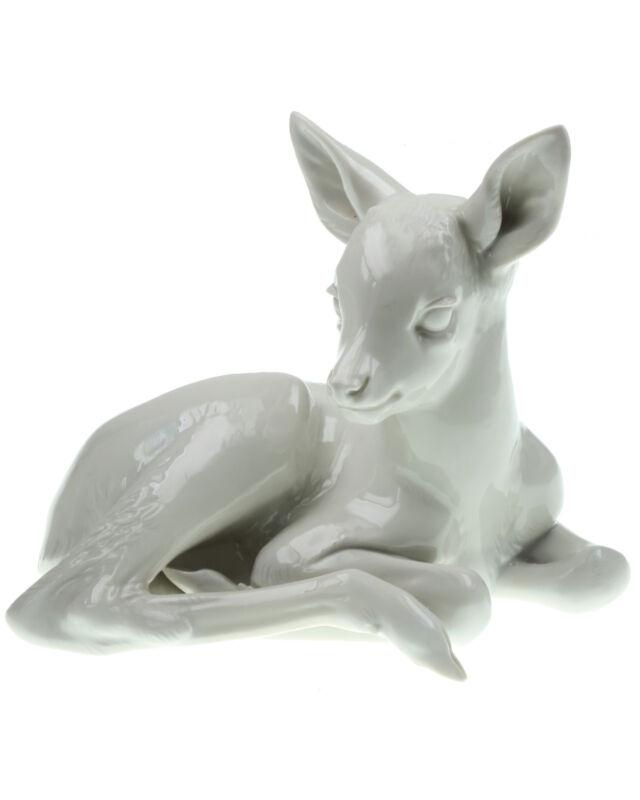 Lying Fawn (Allach Model No. 41) by Prof. Theodor Kärner, Rehkitz, Porcelain