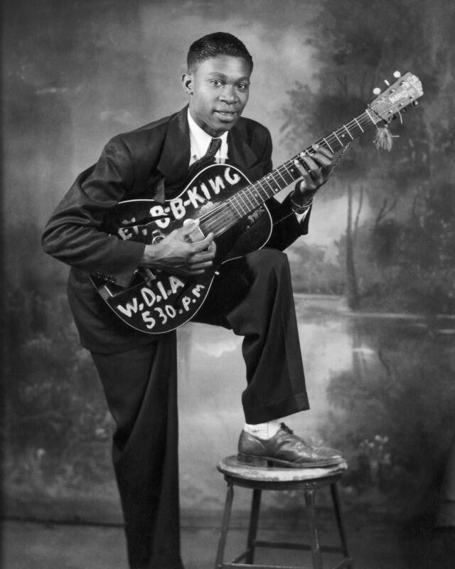 Young B. B. King, 8x10 B&W Photo