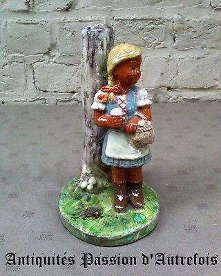 B2018212 - Figurine pied de lampe en terre cuite  - Très bon état