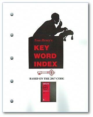 Key Word Index based on the 2017 NEC Code, by Tom Henry, Paperback (Softbound)