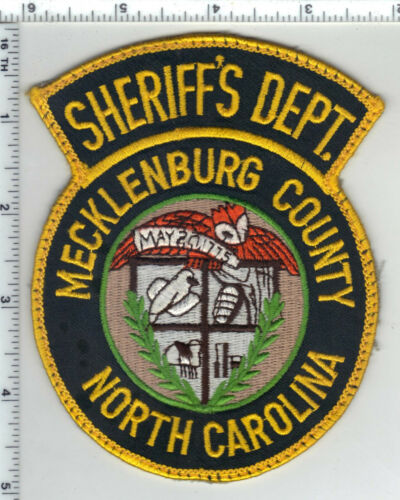 Mecklenburg County Sheriff (North Carolina) 2nd Issue Uniform Take-Off Patch