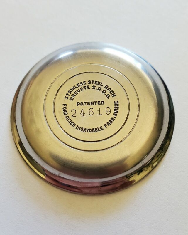 Vintage Pierce 36mm watch Caseback part preowned