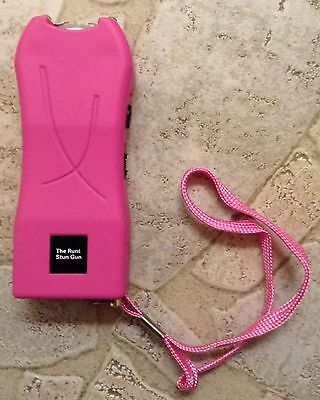 PINK 20 Million Volt Rechargeable Stun Gun LED Self Defense w/ free taser case