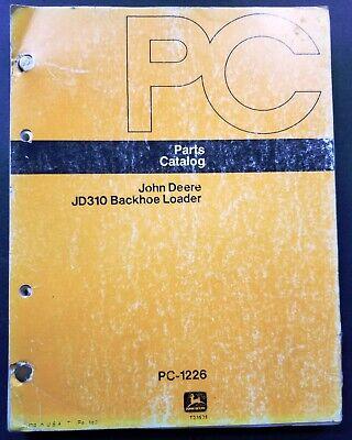John Deere Jd310b Backhoe Loader Parts Catalog Manual - Pc-1226