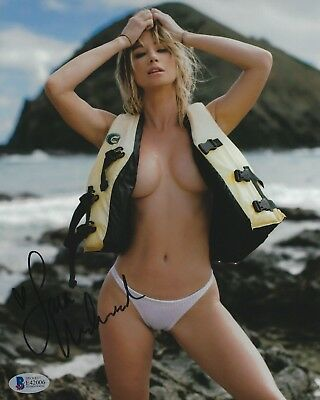Sara Jean Underwood Signed 8x10 Photo BAS Beckett COA Playboy Model Autograph 4