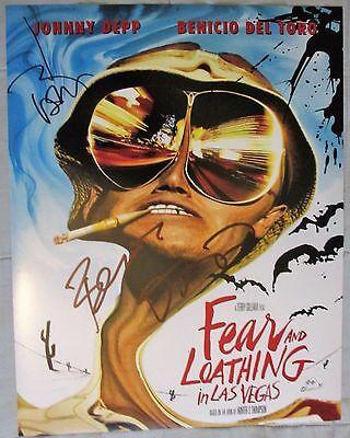 Johnny Depp   Benicio Del Toro Signed 11X14 Photo Fear And Loathing In Las Vegas